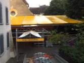 Notdach in Kaiserstuhl  für ein Konzert